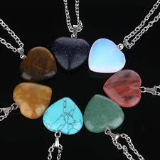 heart stone necklace pendants images Fashion gold and silver plated crystal bracelet for girls jpg