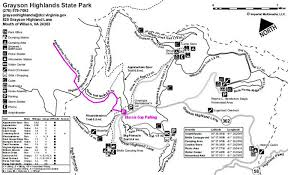 virginia state parks map hikin grayson highlands state park and mount rogers