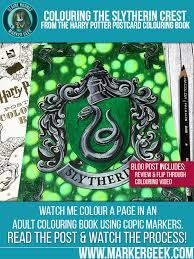 harry potter colouring book colouring slytherin u0027s crest video