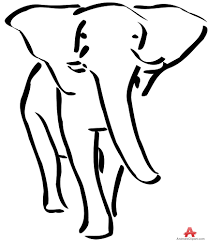 outline elephant drawing clipart free clipart design download