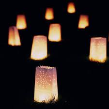 lanterne de sol en papier white paper bags with graphic hole punch place battery candles