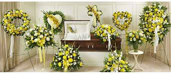 funeral floral arrangements yellow funeral flowers flower delivery miami ok s flowers