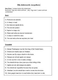 negation u2013 negative activities and worksheets free language stuff