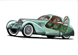 bugatti car drawing the bugatti revue 21 1 bugatti artwork by various artists