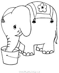 coloriage Elephant boit dans le sceau gratuit  Animaux