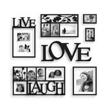 Love Laugh Live Live Love Laugh 7pc Collage Wall Picture Frames Plaques For Sale