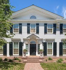 Neoclassical Style Homes Crown Moulding Dominates This Updated Neoclassical American