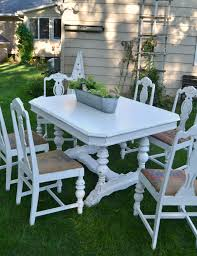 white farmhouse table makeover my creative days