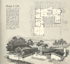 Interior Courtyard House Plans by Vintage House Plans 1960s Homes Mid Century Homes