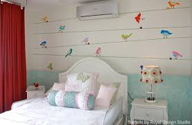 wall stencils for bedrooms mix up stencils to get a cute girls bedroom paint pattern