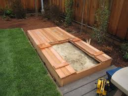 sandbox with seating