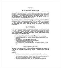 business plan outline template u2013 8 free word excel pdf format