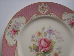 Shabby Chic Plates by Reserved For Judith Dinner Plate Shabby Pink Rose By Myott