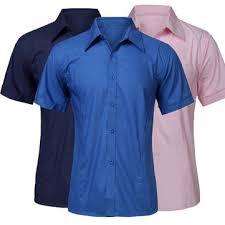 cheap fashion multi color stand collar men short sleeve dress