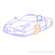 ferrari drawing how to draw a ferrari u2013 pop path