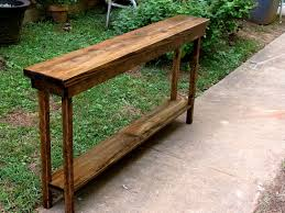 Sofa Table Rustic Console Table Extra Narrow Sofa Table Entryway Hallway