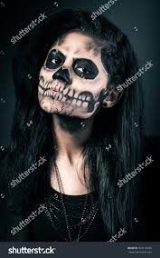 halloween woman mask young woman day dead mask skull stock photo 328176245 shutterstock