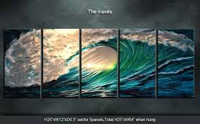 original home decor original wall art painting indoor outdoor home decor wave 259 00