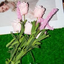 home decor flower arrangements wedding bridal 9 heads lavender rose artificial peony silk flowers