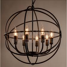 Black Iron Chandeliers Orb Iron Chandelier Black Iron Replica