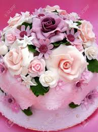 birthday flower cake flower colorful birthday cake stock photo picture and royalty