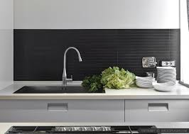 black backsplash in kitchen modern kitchen backsplash ideas black gray tiles