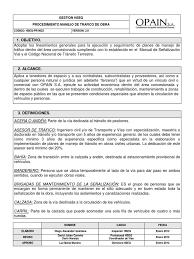 0022 procedimiento manejo de trafico en obra v2 0 pdf