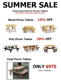 Poly Picnic Tables by Outdoor Patio Furniture Baltimore Md Backyard Billy U0027s