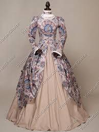 Ball Gown Halloween Costumes Renaissance Floral Print Dress Ball Gown Princess Halloween Costume