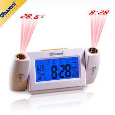 light projection alarm clock original chaowei dual projection alarm clock sound activated lcd