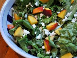 Summer Lunches Entertaining - butter lettuce salad with peaches and feta recipe serious eats