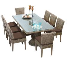 tk classics cape cod 9 piece rectangular wicker dining set with tk classics cape cod 9 piece wicker dining set cocoa