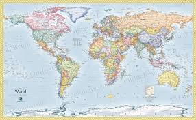 wall maps world political wall map standard world map detailed