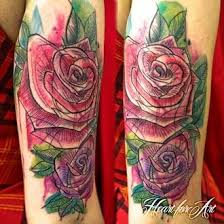 watercolor rose tattoo cover up pictures to pin on pinterest