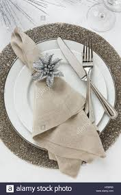 Formal Table Setting Festive Fancy Formal Fine Dining Christmas Or New Year U0027s Eve