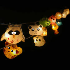 String Lights Uk by Gaiashine Zoo Mix Animals String Lights Fairy Kid U0027s Room Night