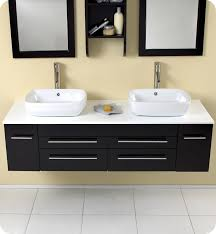 Fresca Bellezza FVNES Espresso Modern Double Vessel Sink - Bathroom vanities double vessel sink