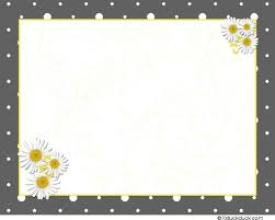 daisies thank you card folded serene gray yellow baby shower