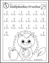 fall multiplication math worksheets and coloring pages by rhoda