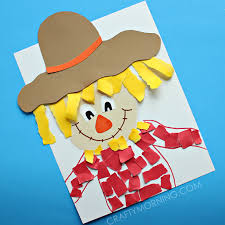 torn paper scarecrow craft scarecrow crafts scarecrows and