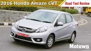 2016 honda amaze cvt road test review motown india youtube
