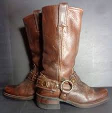 womens motorcycle boots size 11 frye 77455 harness 8r brown leather motorcycle boots s size
