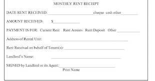 Rental Receipt Template Excel This Printable Rent Receipt Template Helps You Create Rent