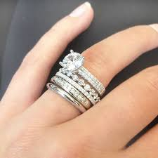 wedding band with engagement ring wedding band stack best 25 stacked engagement ring ideas on