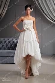 2016 taffeta strapless high low wedding dresses floral beaded
