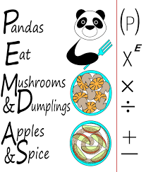 a memorable mnemonic for the order of operations jill pigott u0027s