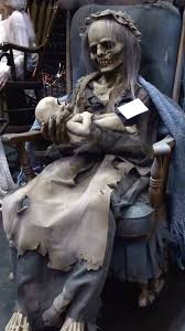 animated props lullaby animated rocking prop this skeletal woman rocks
