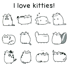 fancy design pusheen coloring pages download a page from the new