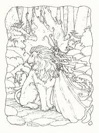 fantasy coloring pages lion and fairy coloringstar