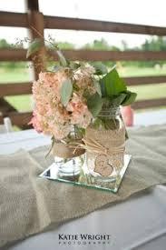 Rustic Mason Jar Centerpieces For Weddings by Rustic Wedding Shower Centerpiece Chalk Paint Mason Jar Burlap
